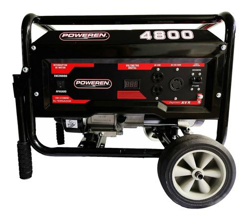 Imagen 1 de 2 de Generador portátil Poweren PW4800 4800W bifásico 120V/220V