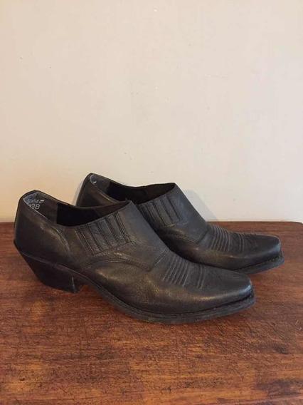 Zapatos Tipo Botín En Piel Marca Old West Hechos En India
