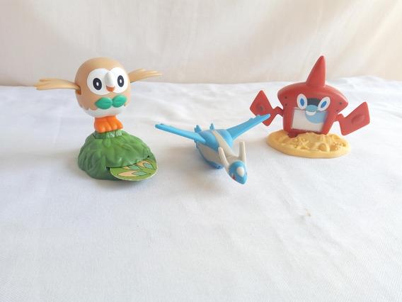Lote Pokemon Mc Donalds - Latios- Rowlet - Rotom Dex Pokedex