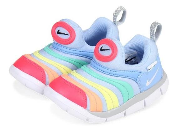 Tenis Nike Unisex Bebé Dynamo Free Rainbow Original