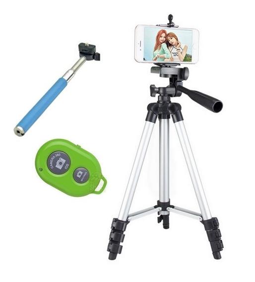 Tripé Universal Fotográfico Canon Nikon 1.80 Mt + Kit Selfie