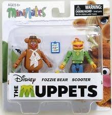 Lote 3 Muppets Fozzie Scooter Santas Elves Teeth Rowlf Disny