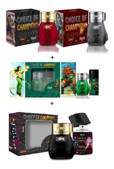 Perfumes Street Fighter Hadouken+shoryuken+brasil+metro City