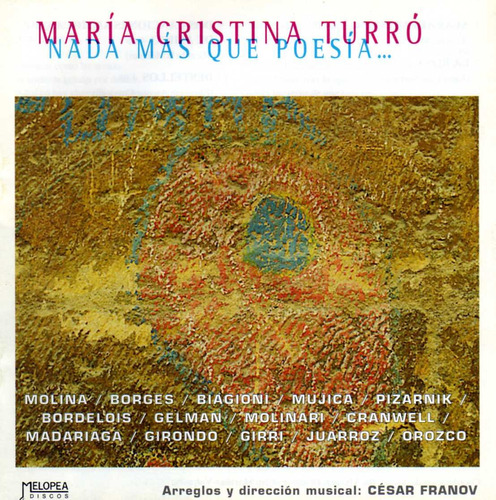 Maria Cristina Turro - Nada Mas Que Poesía - Cd