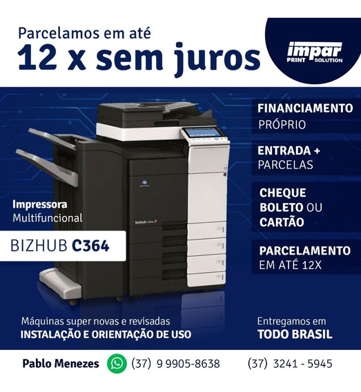 Promoção! Konica Bhc454. Entrega E Instalação Própria Brasil