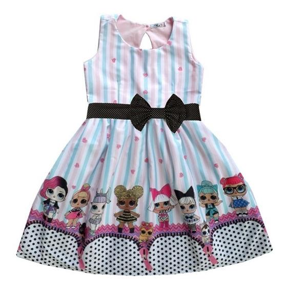 Vestido Infantil Lol Surprise Festa Bonecas Lol
