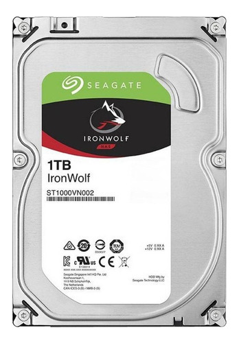 Imagen 1 de 4 de Disco duro interno Seagate IronWolf ST1000VN002 1TB