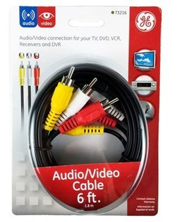 Cable Audio Y Video Rca 3 Puntas General Electric