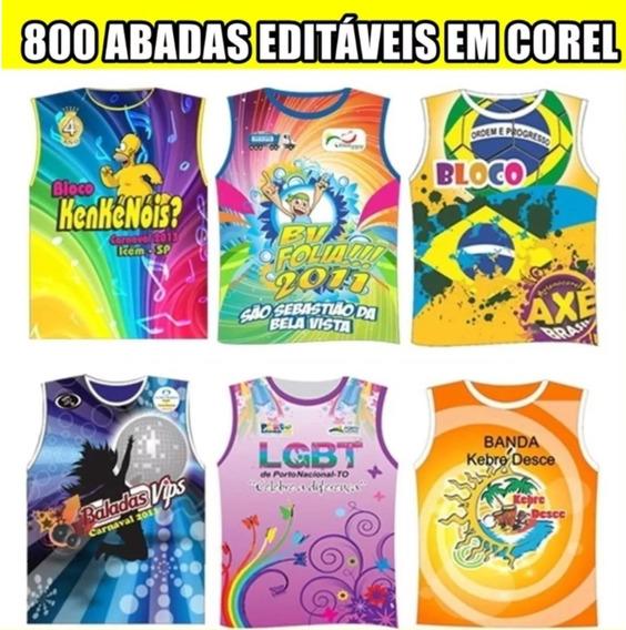 800 Abadás Editáveis Em Corel Carnaval 2020