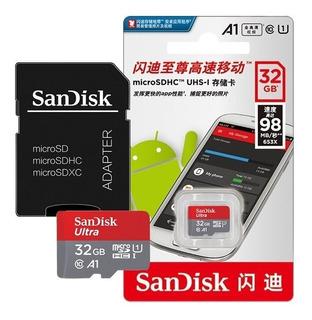 Cartão De Memória Micro Sd 32gb Sandisk Ultra 98 Mb/s Uhs-i Classe 10 Smartphone Câmera Tablet Drone
