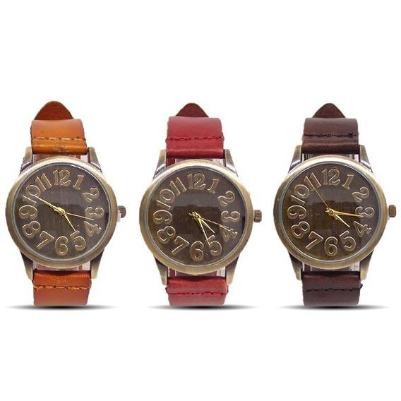 Relógio De Pulso Feminino Vintage Pulseira De Couro Retro