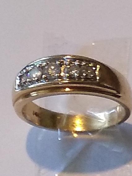 Anillo Con Diamantes Para Caballero Oro Amarillo 14 Kts
