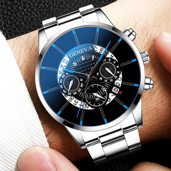 Relógio Masculino Casual Geneva Não À Prova D