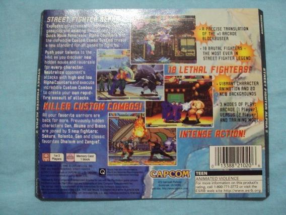 Encarte Original Do Street Fighter Alpha 2 Do Playstation 1