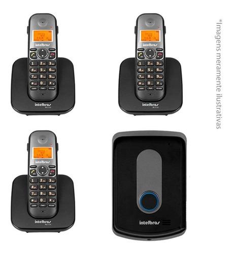 Imagem 1 de 3 de Kit Interfone Porteiro Intelbras S/ Fio Tis 5010 3 Ramais Tf