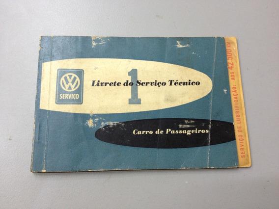 Livrete De Serviços Técnicos Vw Fusca 1959 - Alemanha 05-58