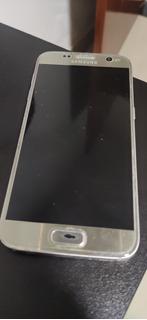 Galaxy S7 Flat 16gb Prata Display Quebrado
