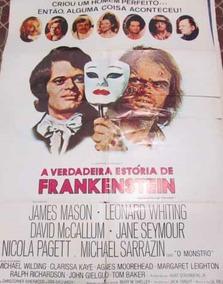 Cartaz Nacional A Verdadeira Estória De Frankenstein Raro!!