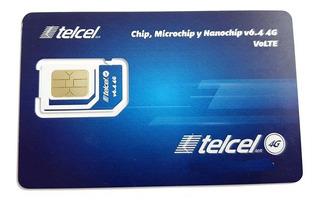 Kit De 10 Chip Amigo Express Telcel Cdmx Region 9 (55)