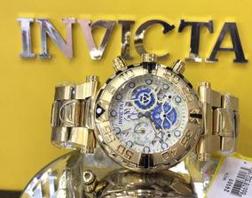 Invicta Subaqua 24989 Suíço Plaque Ouro Cronógrafo-original