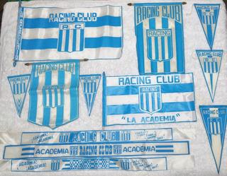 Coleccion Banderas Vinchas Banderines Racing Club Rac 01