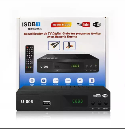Sintonizador Para Tv Digital Abierta Isbd-t Wifi Youtube