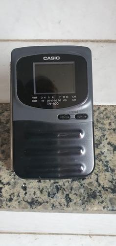 Imagem 1 de 7 de Mini Tv Portátil Casio Modelo Tv 100g
