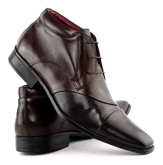 Sapato Social Masculino Botinha Estilo Italiano Dhl Calçados