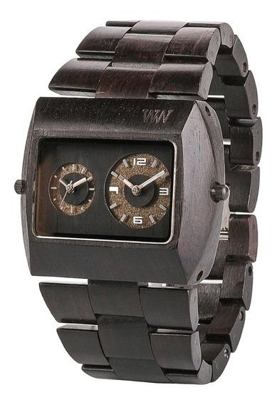 Relógio De Madeira Wewood - Jupiter Black - Wwj02