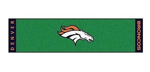 Imagen 1 de 5 de Fanmats Nfl Denver Broncos Nylon Face Putting Green Mat