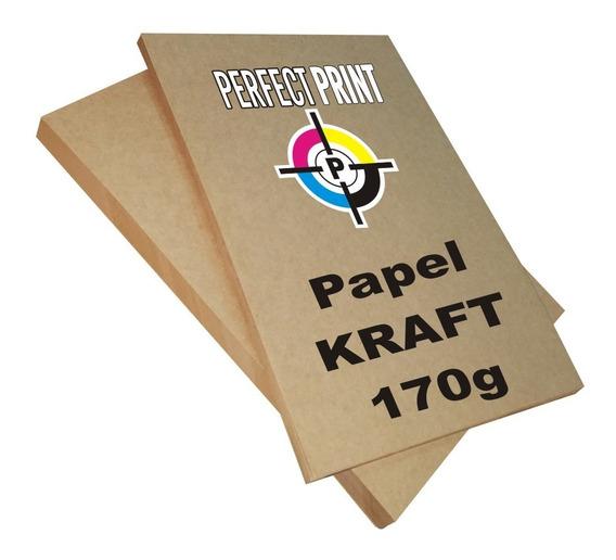 Papel Kraft A4 Misionero Madera 170 Grs Paquete 100 Hojas