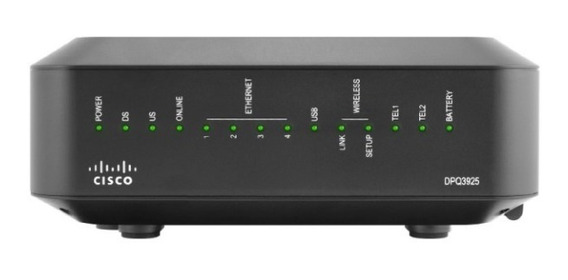 Modem Cable Cisco Dpq3925 Docsis 3.0 Inter Telefonica Punto