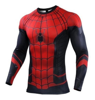 Camisa Compresión Marvel Avengers Spiderman Far From Home