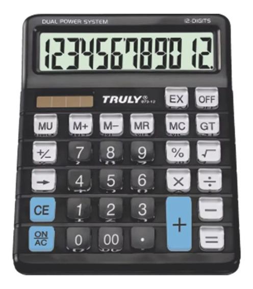 Calculadora De Mesa Escritório 12 Dígitos 873-12 Truly