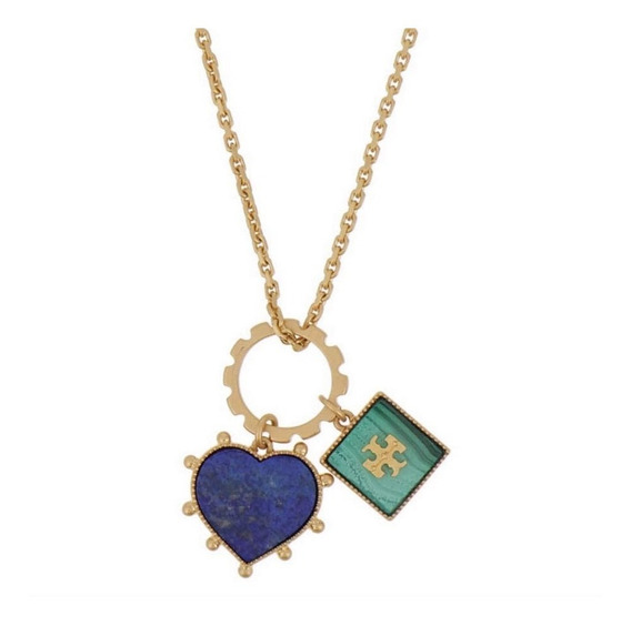 Collar Cadena Autentico Tory Burch Dije Charm Heart Original