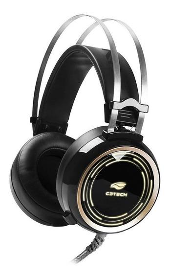 Fone Gamer Com Microfone Black Kite C3tech Ph-g310bk
