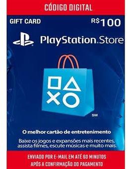 Cartão Playstation Br Brasil Psn R$100