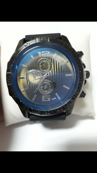 Kit 02 Relógio Luxo Pulseira De Borracha Resistente