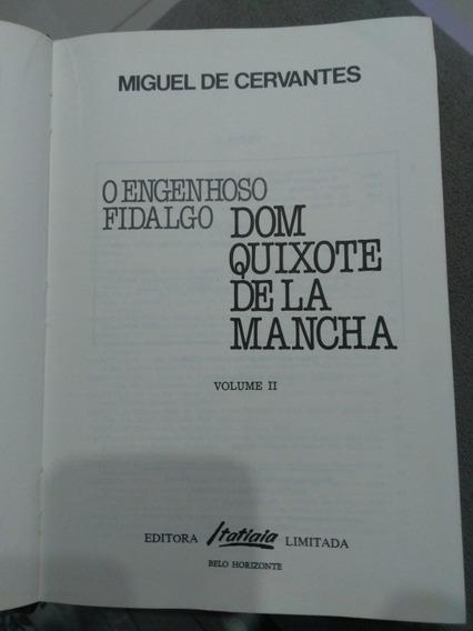 Livro O Engenhoso Fidalgo Dom Quixote De La Mancha (vol. Ii)