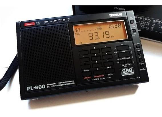 Rádio Receptor Tecsun Pl-600 Am/fm/sw/ssb Digital Multibanda