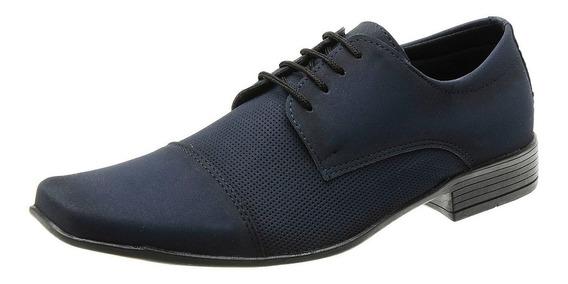 Sapato Social Masculino Com Cadarço Classico Texturizado