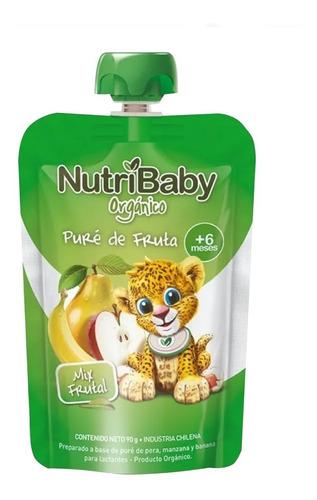 Nutribaby Organico Papilla Mix Frutal Pouch Caja X 24 Unids