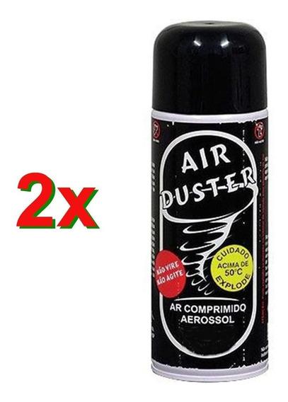 2 X Ar Comprimido Spray Aerossol Air Duster 164ml Limpeza Pc Notebook Tufao Bga Limpa Pó Cooler Remove Poeira
