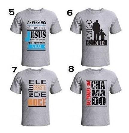 Kit 10 Camisas Masculinas Evangelicas ,frases Biblica