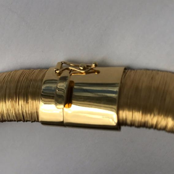 Colar Em Ouro 18k-750 Com Brilhantes Peso: 74.2 G