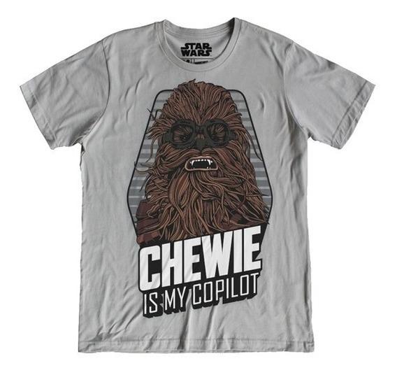 Playera Hombre Chewbacca Star Wars Lucasfilms Disney Máscara