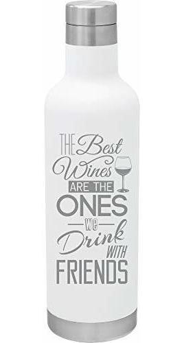 Botella De Vino Al Vacao De Acero Inoxidable De 25 Onzas: