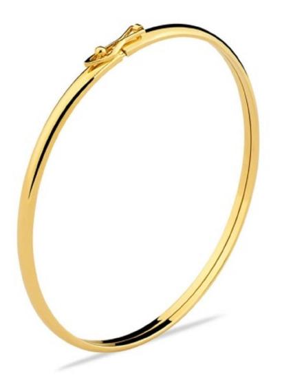 Pulseira De Ouro 18k Algema Bracelete - Viagold F47