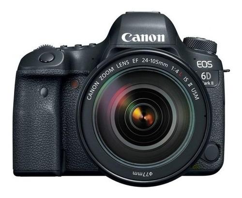 Imagen 1 de 4 de Canon EOS Kit 6D Mark II 24-105mm F/4L IS II USM DSLR color  negro