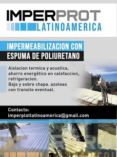 Espuma Aislacion Termica Filtraciones- Reemplaza La Membrana